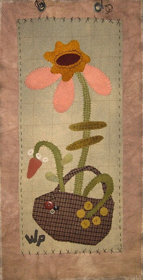 Pattern: Pink Petals Wall Hanging by WaterPail Designs