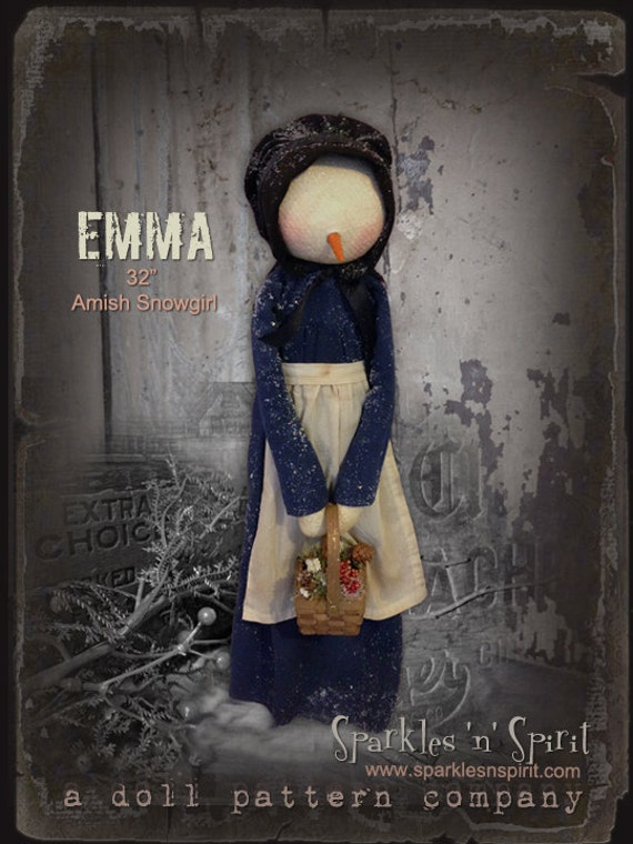 Pattern: Emma the Amish Snowgirl by Sparkles N Spirit