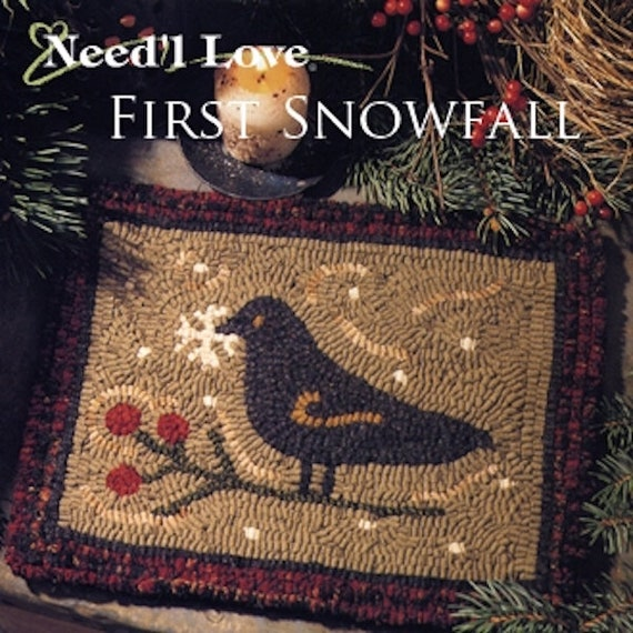 "Pattern: Rug Hooking - ""First Snowfall"" by Renee Nanneman of  Needle Love Designs"