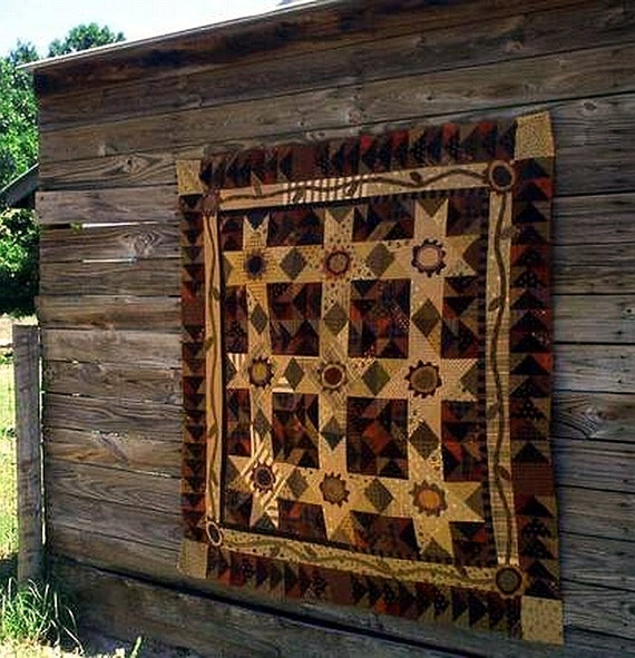 Pattern: Pretty Pansy Posey Patch Quilt Pattern by Primitive Pieces by Lynda