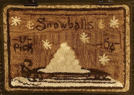 """Pattern: """"Snowballs - 5 cents"""" Punch Needle Pattern by Kanikis Prims and Whims"""