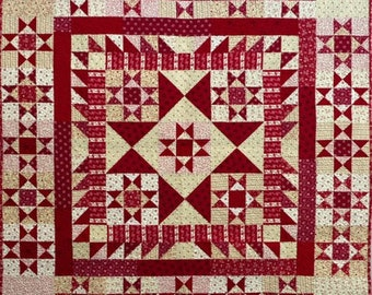 Pattern: Heritage Stars Quilt Pattern by Red Crinoline Quilts