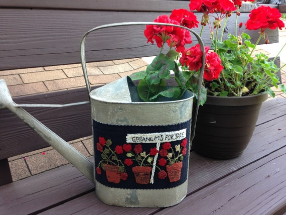 Pattern: Geraniums for Sale Punch Needle by Primitive Gatherings