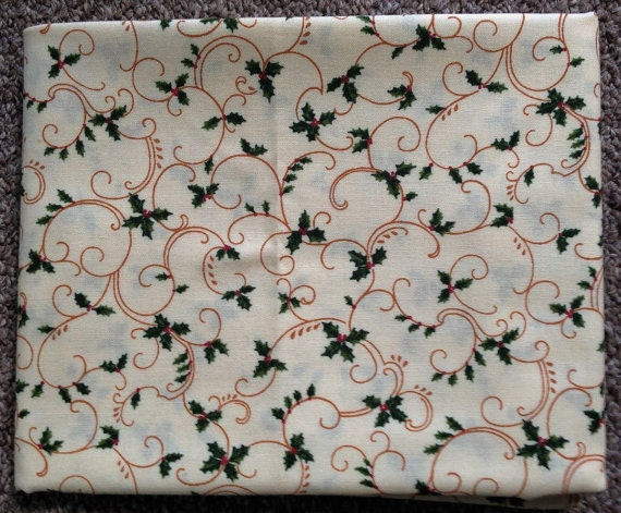 Fabric: 1 YARD - Cream Holly - Sentimental Studios for Moda Fabrics