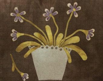 "Wool Kit and Pattern: ""Pot o Violets"" by  Maggie Bonanomi"