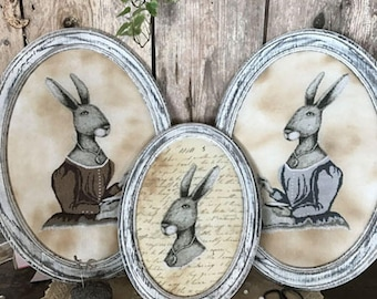 Pattern: Colonial Hare Cross Stitch Pattern by The Primitive Hare