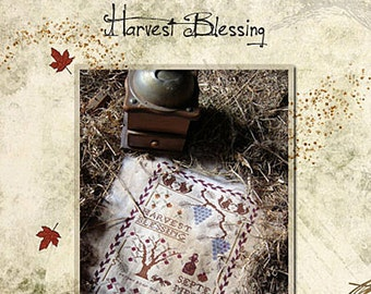 Pattern: Harvest Blessing Cross Stitch - Primitive Hare