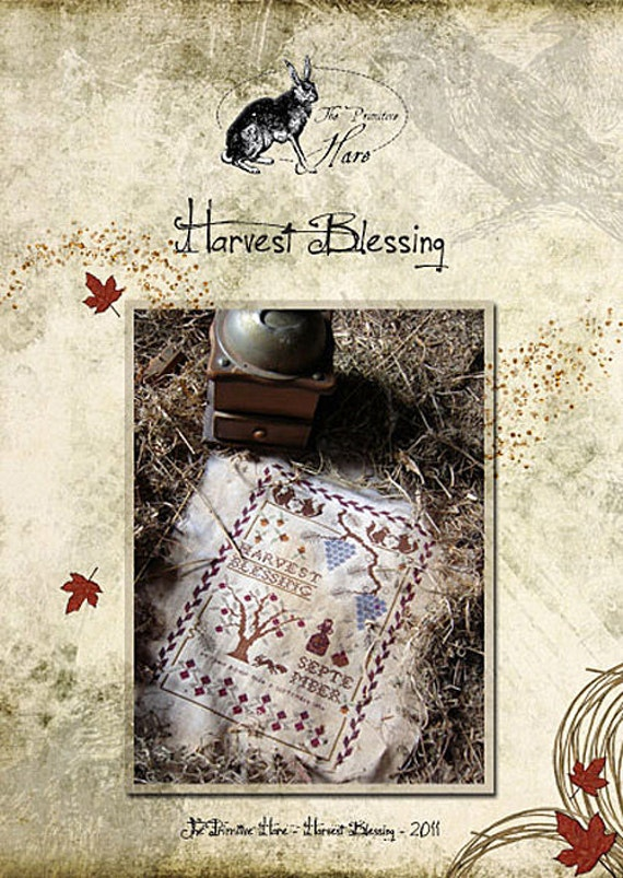 Pattern: Harvest Blessing Cross Stitch - The Primitive Hare