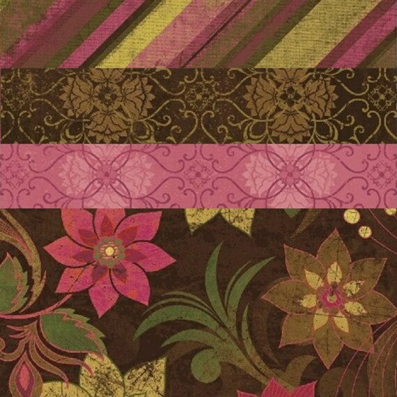 Fabric HALF YARD: Urban Valentines Day Fabric - Windham Fabrics - Urban Cosmo Collection