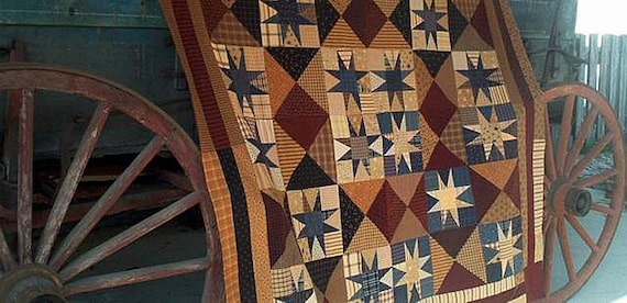 Pattern: They'll be Coming Around the Mountain Quilt Pattern by Primitive Pieces by Lynda