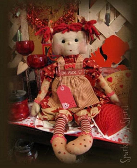 Pattern: Sweet Sara Valentines Day Raggegy Doll - Sparkles N Spirit
