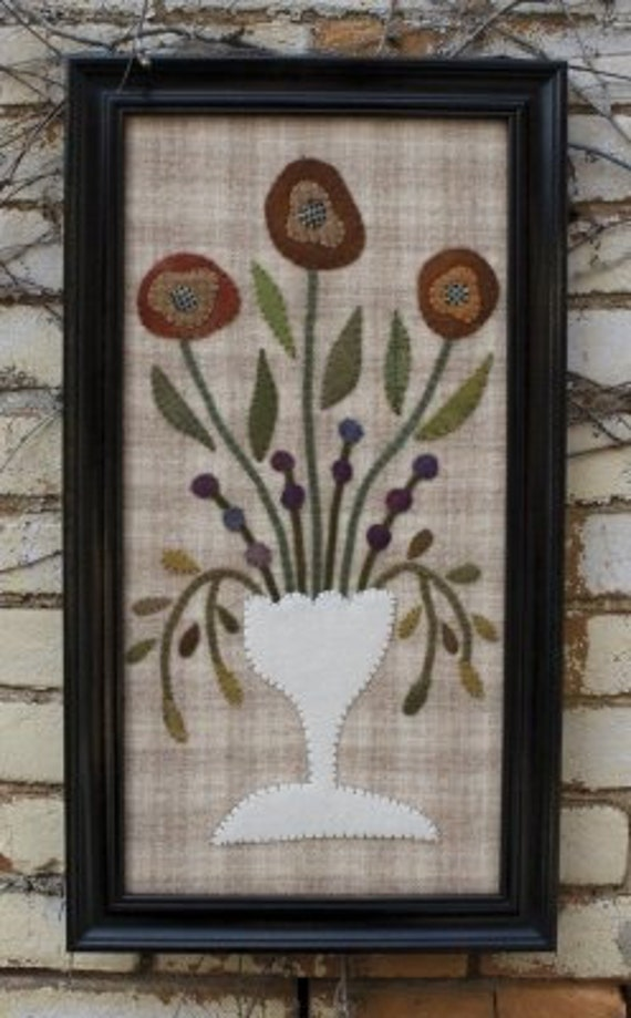 Pattern: Wool Applique Wall Hanging - Vintage Fair- Threads that Bind