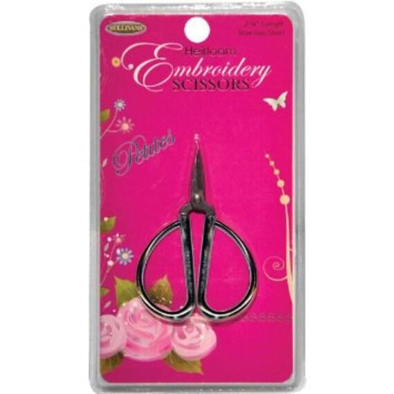 Notions: Embroidery Scissors - Sullivan's Heirloom Petites - Silver Copper Gold