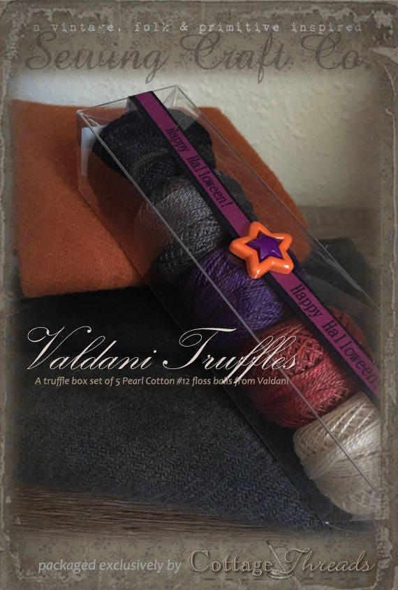 Fil Valdani: Gift fil Set/5 Perle broderie fil Gift ouate - Collection «Halloween traite» fe6157