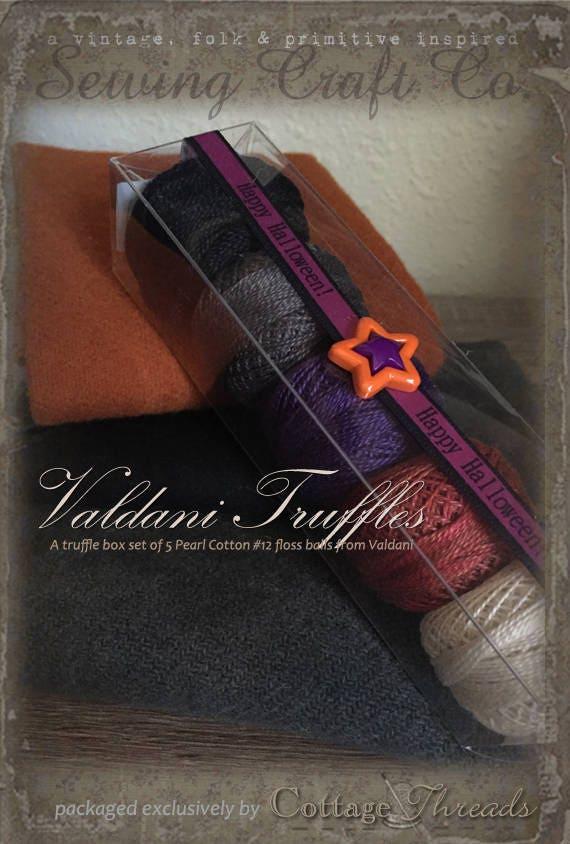 Fil Valdani: Gift Set/5 Perle broderie Collection fil ouate - Collection broderie «Halloween traite» 5fc9ea