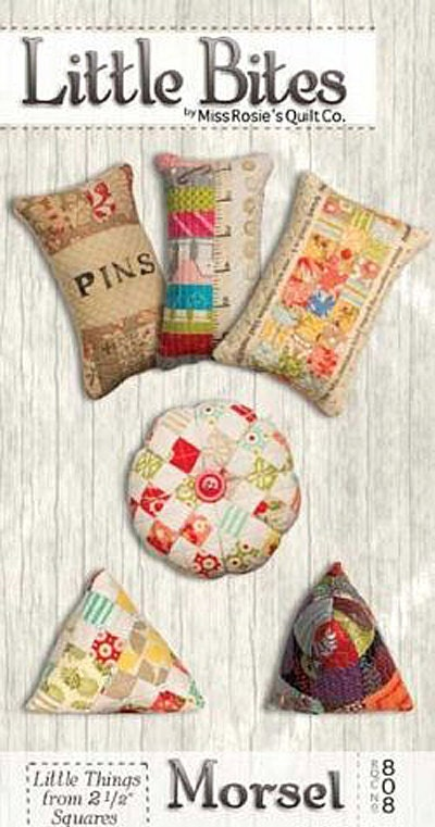 Pattern Little Bites Morsel Quilted Pincushions Pattern By