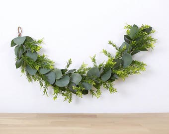 high chair garland, bohemian eucalyptus garland, wall hanging, wedding garland