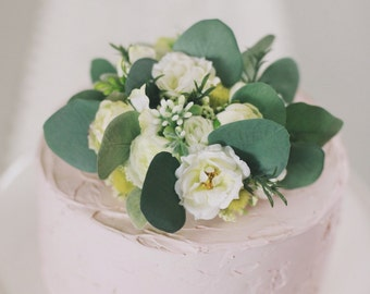 floral cake topper, wedding cake top, flower cake top