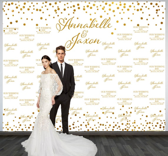 Wedding Photo Backdrop Printed Custom Party
