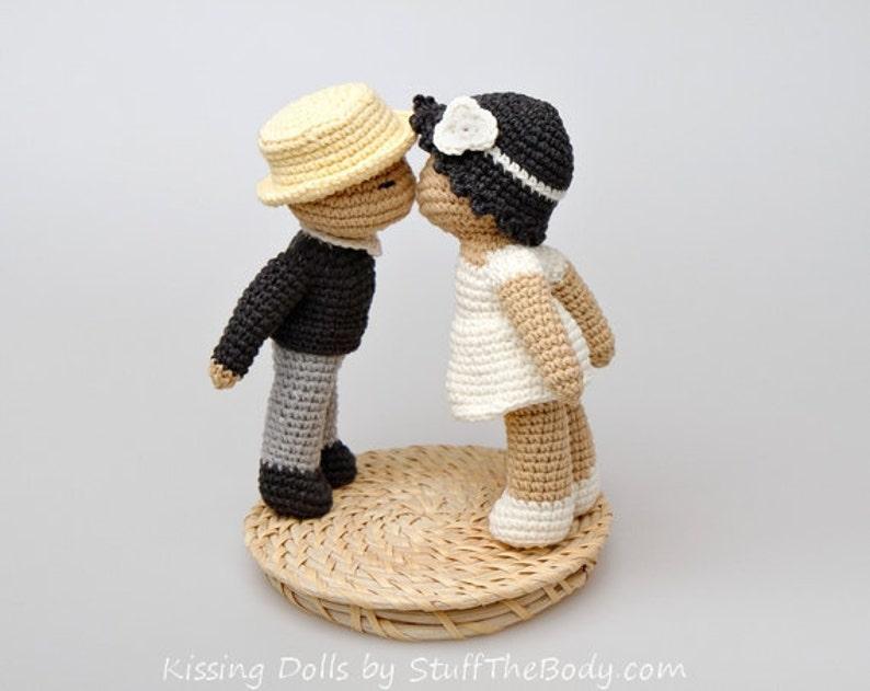 Kissing Dolls Amigurumi Pattern Wedding Crochet Gift Bride image 0