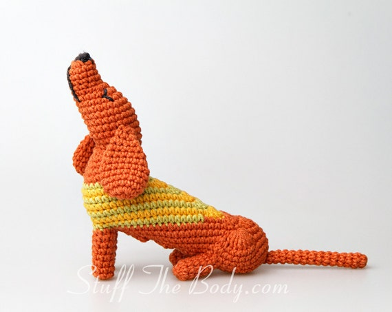 Dachshund dog free crochet amigurumi pattern – Ronja's Ami Friends | 453x570