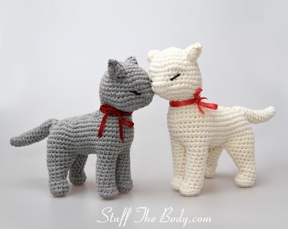 Cat Amigurumi Pattern Seamless Crocheted Kitten Etsy Beauteous Amigurumi Patterns