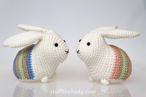 Easter Bunny Amigurumi Pattern Easter Crochet Pattern Rabbit Etsy