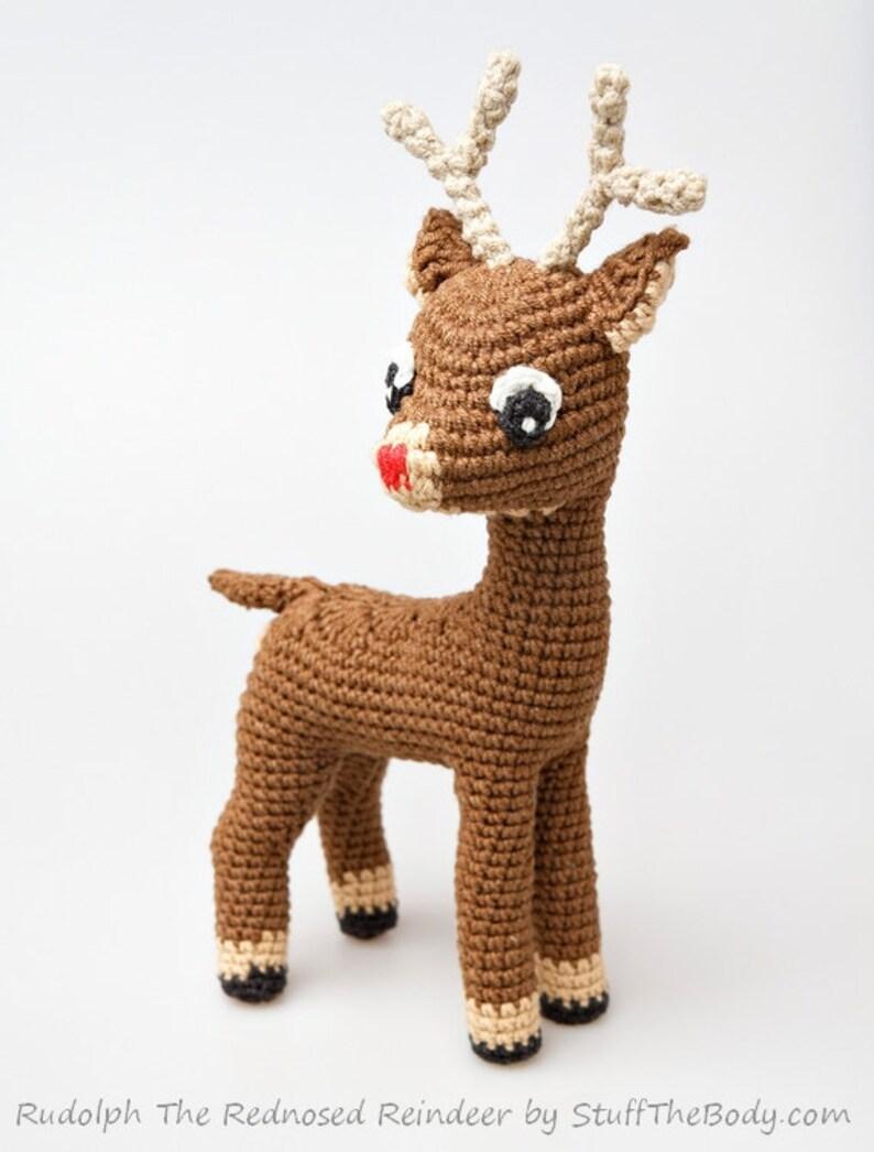 Winter Rudolf PDF Pattern Amigurumi Pattern Deer Crochet Reindeer Rattle Christmas
