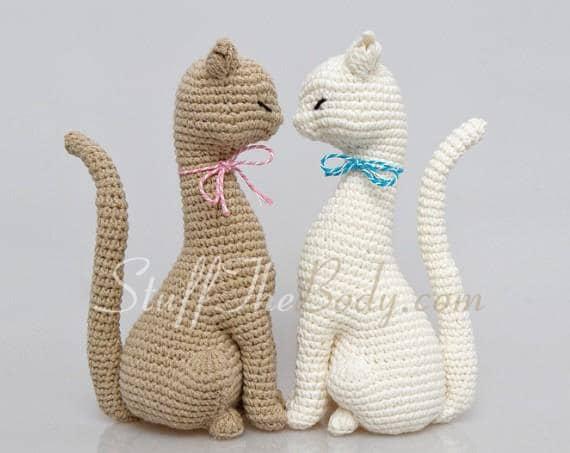 Cat Princess Amigurumi Pattern Realistic Cat Crochet Pattern Etsy Simple Cat Crochet Pattern