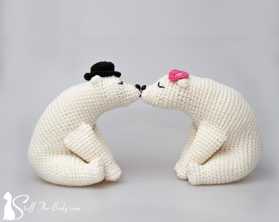 Kissing Bears Amigurumi Pattern Wedding Crochet Pattern Home Etsy