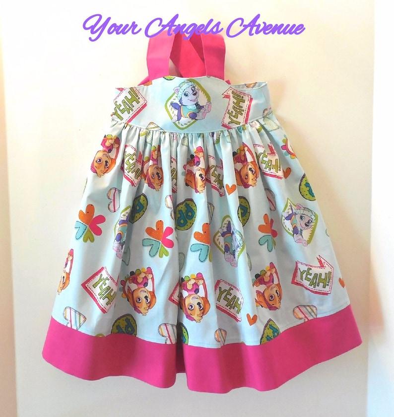 3956f28d9c201 Girls Toddler Baby Paw Patrol Dress Baby Toddler Girl Skye | Etsy