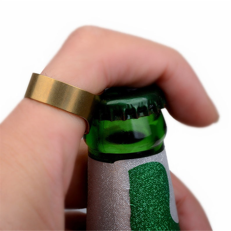 Personalized Ring Bottle Opener Stainless Steel Beer Bottle Opener Colorful Finger Bottle Opener for Party Family Gift Supplies