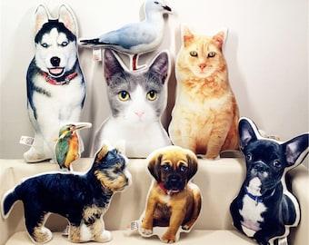Personalized Photo DIY Pet Cushion Toys Dolls Stuffed Animal Pillow Sofa Car Decorative Pillow Custom Dog Cat Picture Cushion
