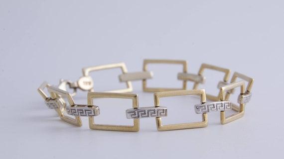 Greek Key Bracelet, Vintage Greek Key Specialty Ch