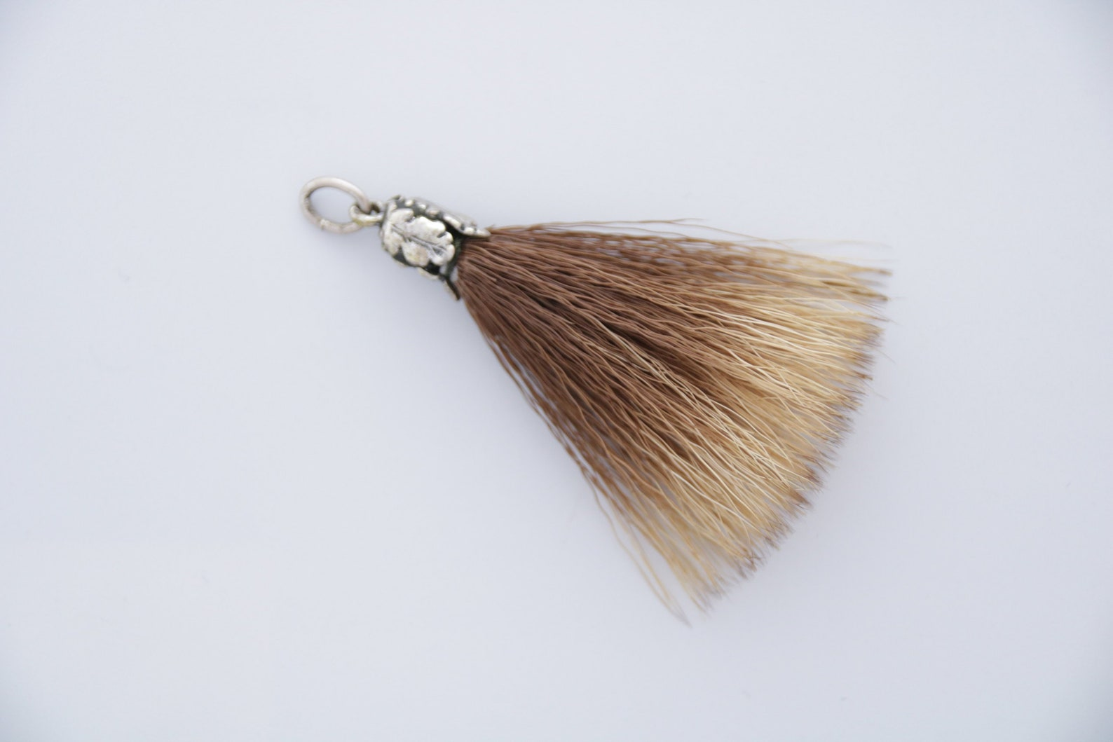 Boar's Hair Pendant, Antique Boars Hair & Silver Bavarian Charivari Pendant, Boar's Hair Charm, Antique Bavarian Hunting Trophy Charivari