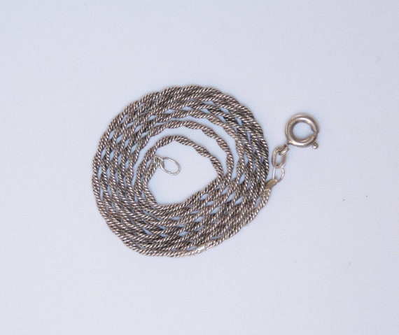Vintage Specialty Chain, Sterling Silver Dual Snak