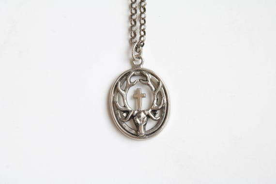 Antique Bavarian charivari pendant necklace / Bava