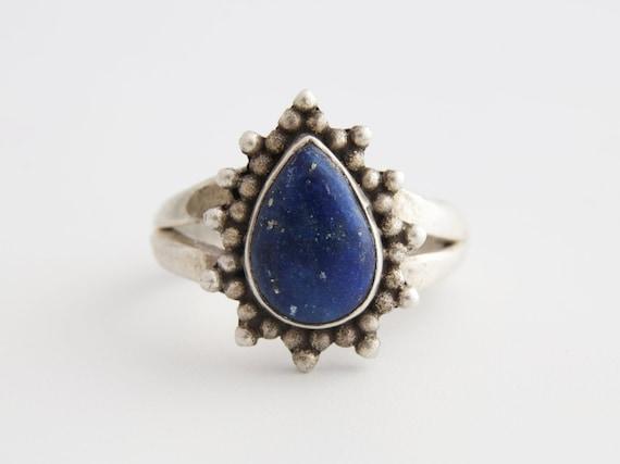 Lapis Lazuli Ring, Tribal Lapis Lazuli Gemstone Ri