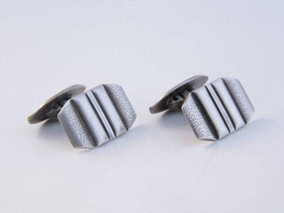 Men's Silver Cuff links, Antique silver men's cuff