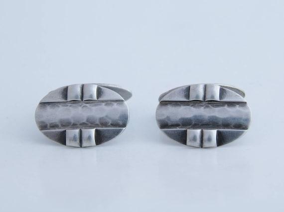 Men's Cuff links, Antique silver men's cuff links,
