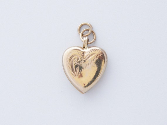 Antique Heart Locket, Victorian Heart Photo Locket