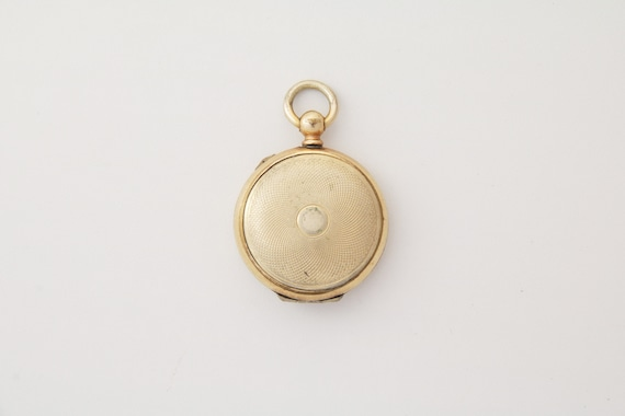 Mourning locket, Victorian gold plated locket with