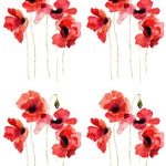 Tale of the Red Poppy - Ceramic Decals- Enamel Decal - Fusible Decal - Glass Fusing Decal ~ Waterslide Decal - 41511