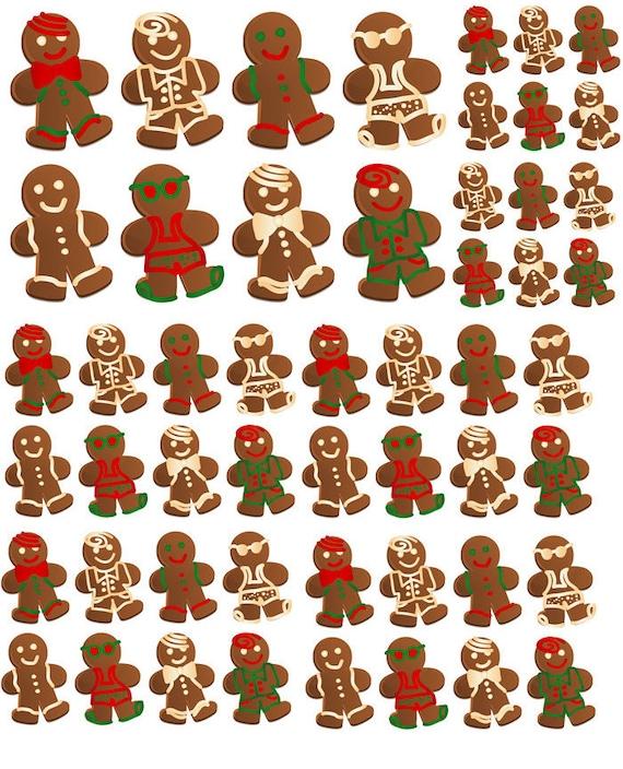 Tout habillé de pain d'épice hommes - céramique émail Stickers - Sticker - autocollant thermocollant - verre Fusing sticker ~ toboggan Decal - 49788