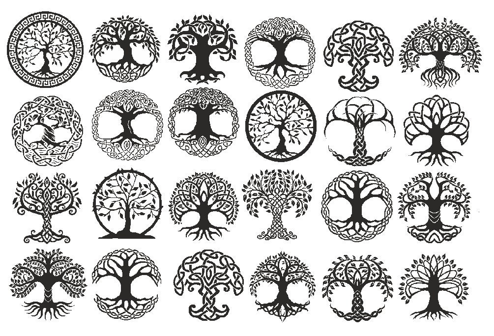 Lost Of Tree Of Life Symbols Ceramic Decals Enamel Decal Etsy