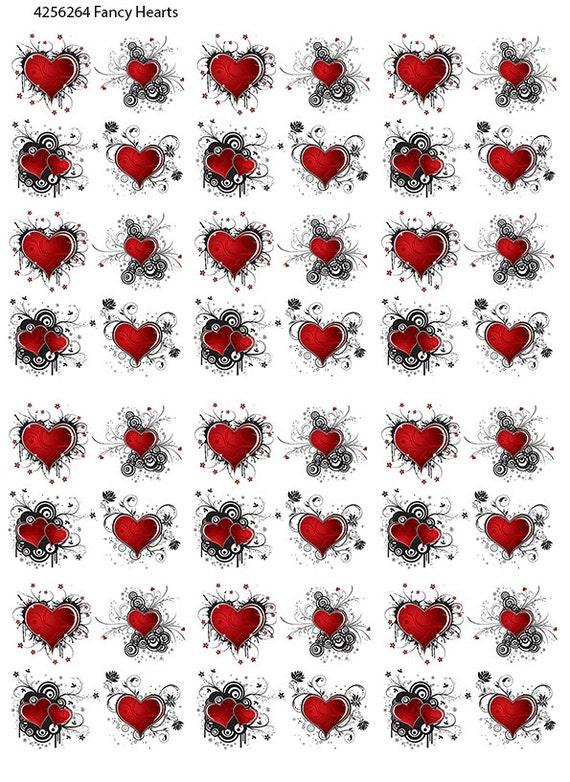 Heart Fused Glass Decal Ceramic Waterslide Fusing Enamel 8.5 in Square Lead Free