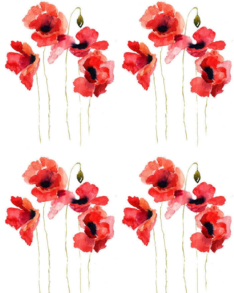 Tale of the Red Poppy  Ceramic Decals Enamel Decal  Fusible image 0