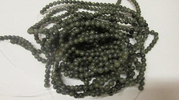 Kilkenny Black Marble 4mm Beads Drilled Thru x 100