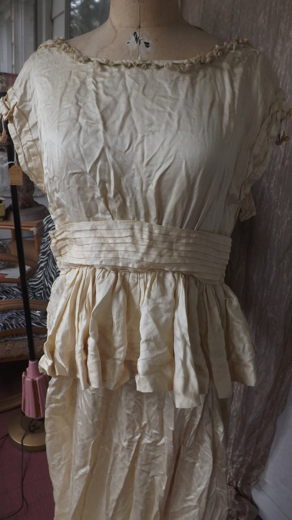 Vintage 1900 Silk Wedding Dress