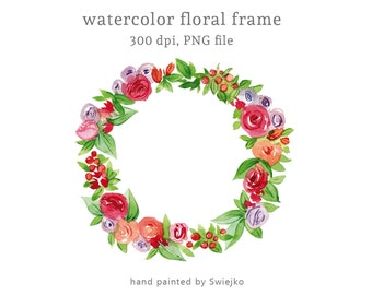 digital watercolour clipart watercolour floral frame watercolor flowers watercolor clipart